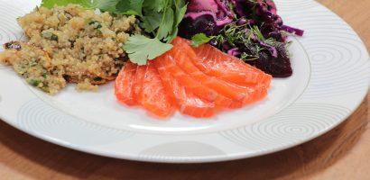 quinoa met zalm en kool recept