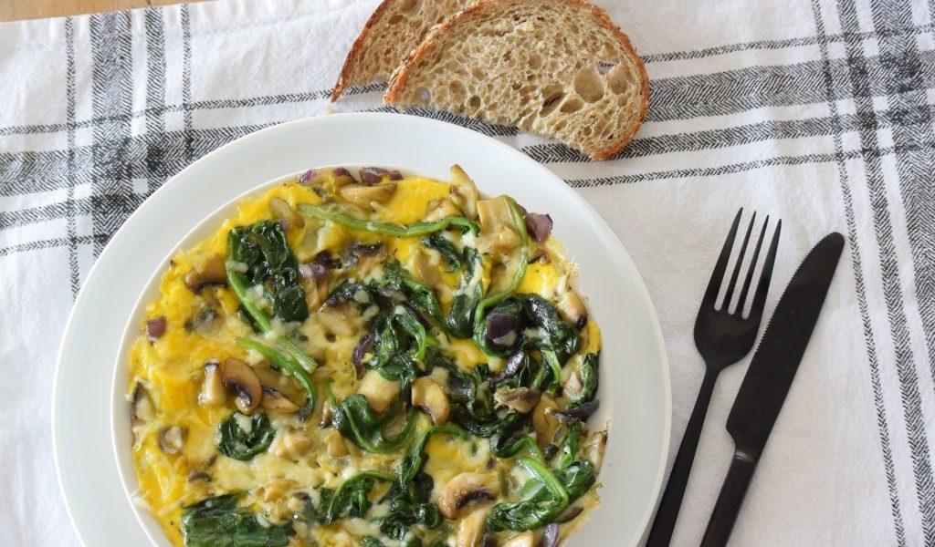 omelet met champignons recept